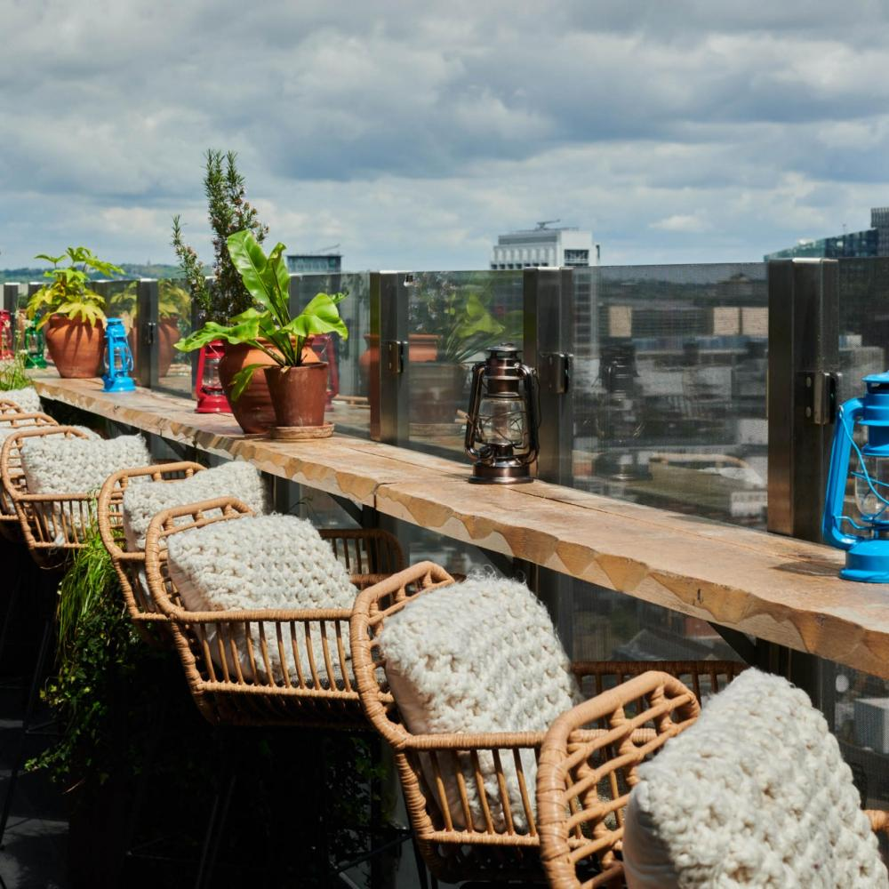 Outdoor Terrace with view of London